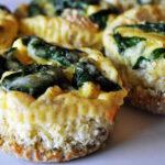 Ricotta & Spinach Egg Muffins with a Quinoa Crust